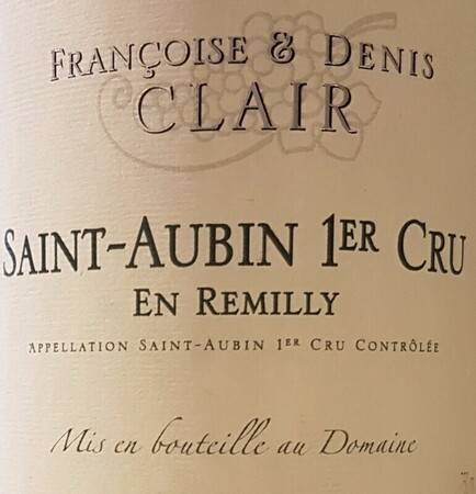 Saint-Aubin 1e Cru 'En Remilly' 2017,  Francoise& Denis Clair, Santenay